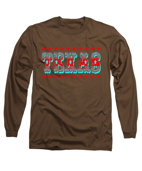 Texas Lone Star State Design Long Sleeve T-Shirt