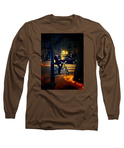 Texting Long Sleeve T-Shirt by John Rivera