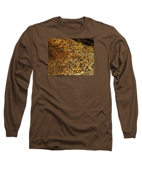 Long Sleeve T-Shirt featuring the photograph Texture Of A Stream by Lynda Lehmann