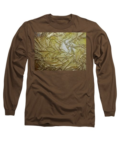 Long Sleeve T-Shirt featuring the mixed media Textured Light by Angela Stout