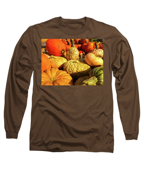 Textures Of Fall Long Sleeve T-Shirt by Rod Seel