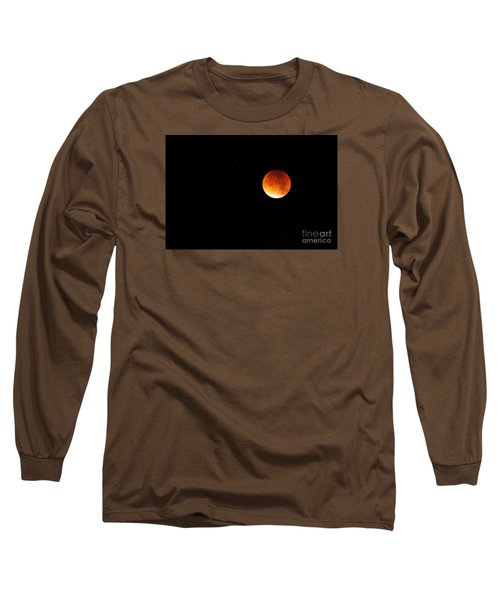 Long Sleeve T-Shirt featuring the photograph The 2015 Blood Moon  by Gary Bridger