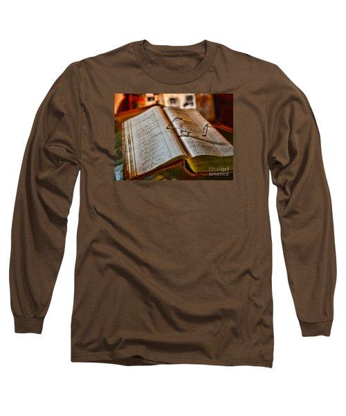 The Accountant's Ledger Long Sleeve T-Shirt by Paul Ward