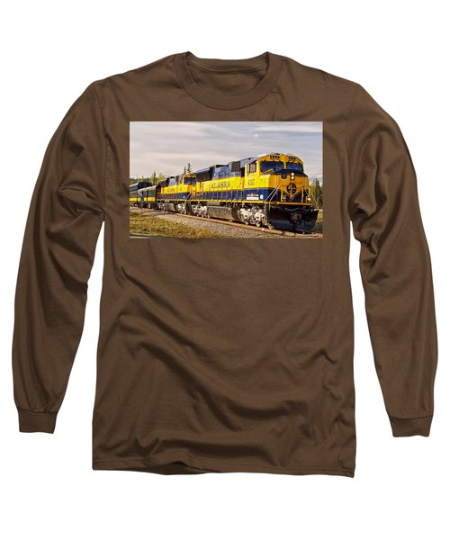 Long Sleeve T-Shirt featuring the photograph The Alaska Railroad by Michael Rogers
