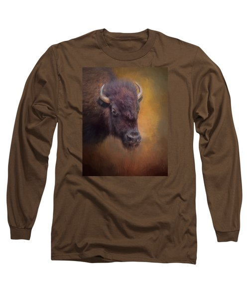 The American Bison II Long Sleeve T-Shirt by David and Carol Kelly