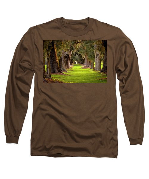The Avenue Of Oaks 4 St Simons Island Ga Art Long Sleeve T-Shirt by Reid Callaway
