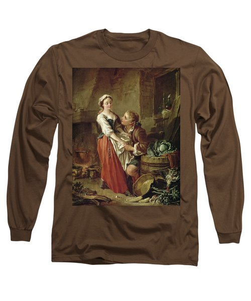The Beautiful Kitchen Maid Long Sleeve T-Shirt by Francois Boucher