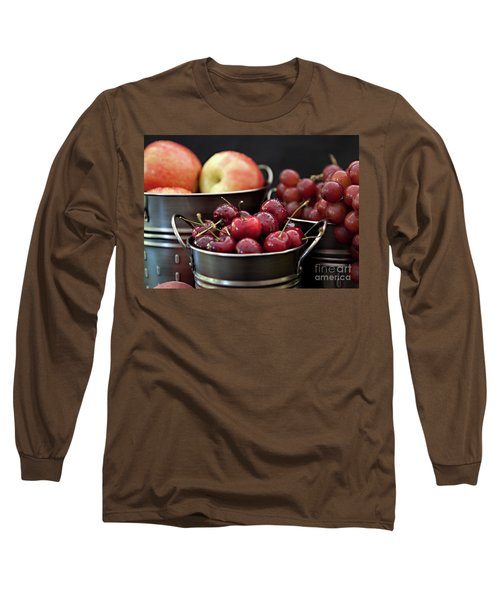 Long Sleeve T-Shirt featuring the photograph The Beauty Of Fresh Fruit by Sherry Hallemeier
