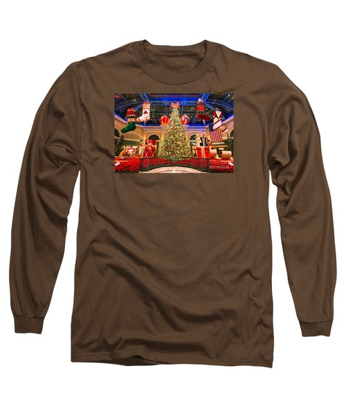 Long Sleeve T-Shirt featuring the photograph The Bellagio Christmas Tree 2015 by Aloha Art