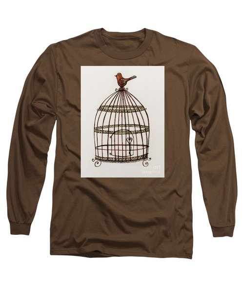 The Birdcage Long Sleeve T-Shirt by Elizabeth Robinette Tyndall