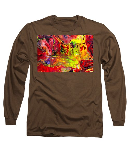 The Birth Of Diamonds - Abstract Colorful Mixed Media Painting Long Sleeve T-Shirt by Modern Art Prints