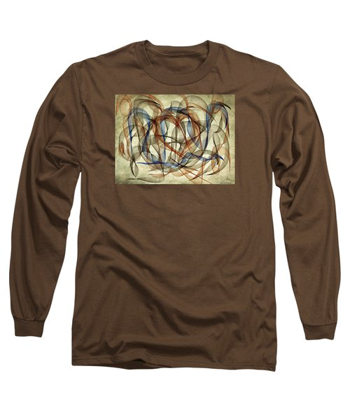 The Blues Abstract Long Sleeve T-Shirt
