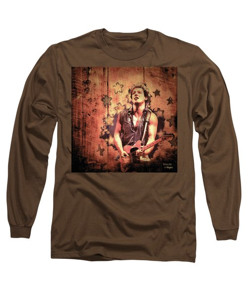 Long Sleeve T-Shirt featuring the photograph The Boss 1985 by Paula Ayers