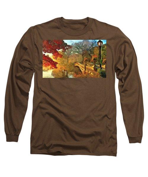 The Bow Bridge Nyc  Long Sleeve T-Shirt by Maciek Froncisz