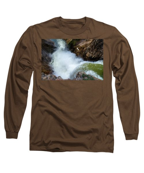 The Brink Of The Lower Falls Of The Yellowstone River Long Sleeve T-Shirt