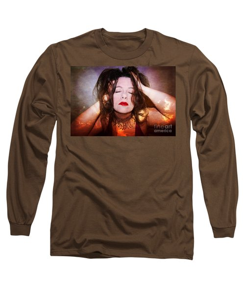 The Burning Within Long Sleeve T-Shirt by Heather King