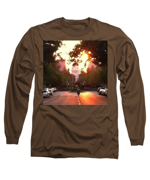 The Capitol In #sacramento #california Long Sleeve T-Shirt