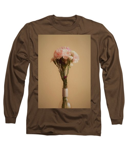 Long Sleeve T-Shirt featuring the digital art The Carnations by Ernie Echols