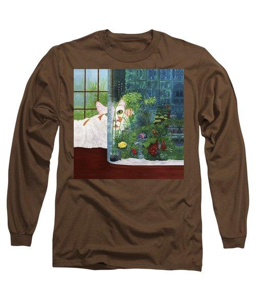 The Cat Aquatic Long Sleeve T-Shirt