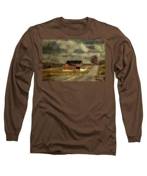 Long Sleeve T-Shirt featuring the digital art The Coming On Of Winter by Lois Bryan