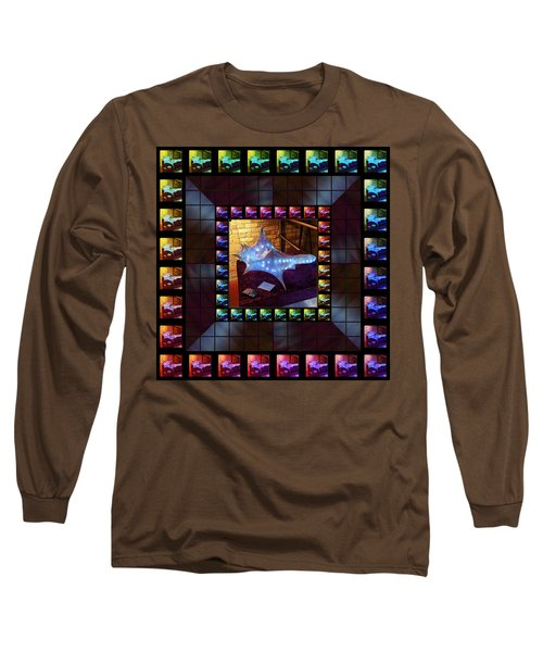 Long Sleeve T-Shirt featuring the sculpture The Crystal Shell - Illuminated by Shawn Dall