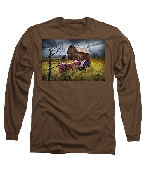 Long Sleeve T-Shirt featuring the photograph The Decline And Death Of The Small Farm by Randall Nyhof