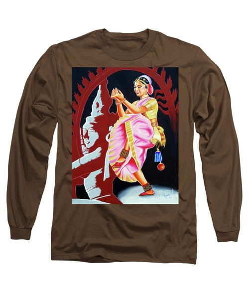The Divine Dance Of Bharatanatyam Long Sleeve T-Shirt