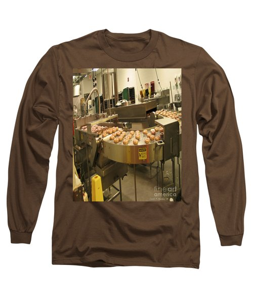 The Doughnut Machine Long Sleeve T-Shirt by Carol F Austin