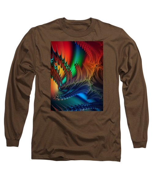 Long Sleeve T-Shirt featuring the digital art The Dragon's Den by Kathy Kelly