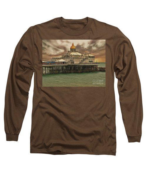 Long Sleeve T-Shirt featuring the photograph The End Of The Pier Show by Leigh Kemp