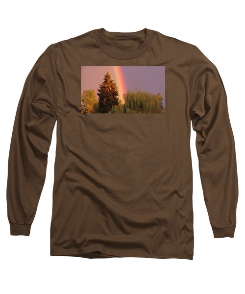 The End Of The Rainbow Long Sleeve T-Shirt by Karen Molenaar Terrell