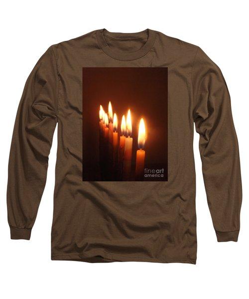The Festival Of Lights Long Sleeve T-Shirt by Annemeet Hasidi- van der Leij
