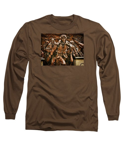 Long Sleeve T-Shirt featuring the digital art The Few by Leigh Kemp