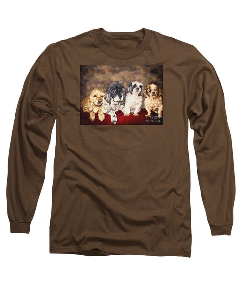 The Four Amigos Long Sleeve T-Shirt by Janice Rae Pariza