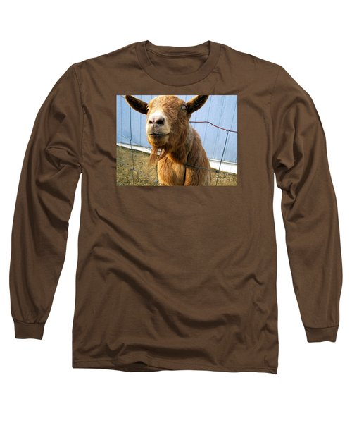 The Friendly Goat  Long Sleeve T-Shirt