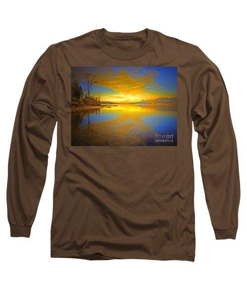 The Golden Clouds Of Winter Long Sleeve T-Shirt
