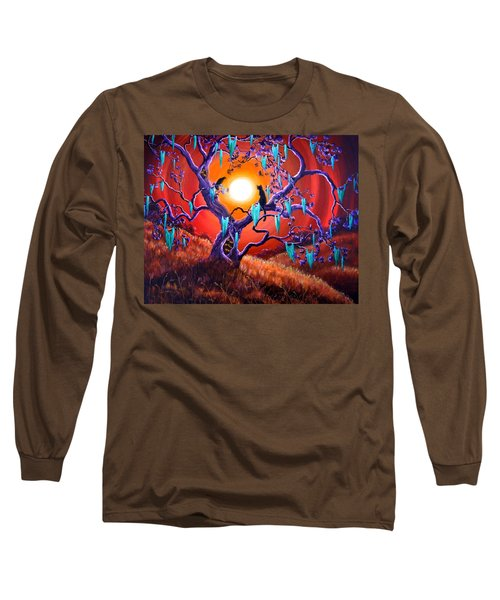 The Halloween Tree Long Sleeve T-Shirt by Laura Iverson