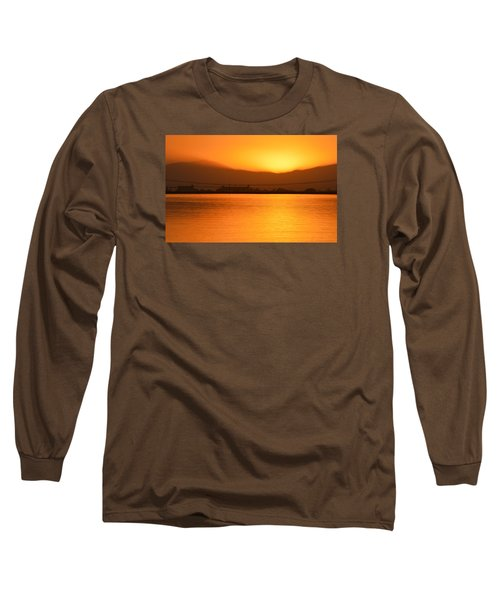 The Hour Is Golden Long Sleeve T-Shirt by AJ  Schibig