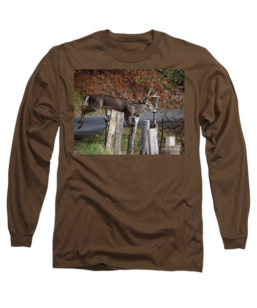 The Jumper 2 Long Sleeve T-Shirt by Douglas Stucky
