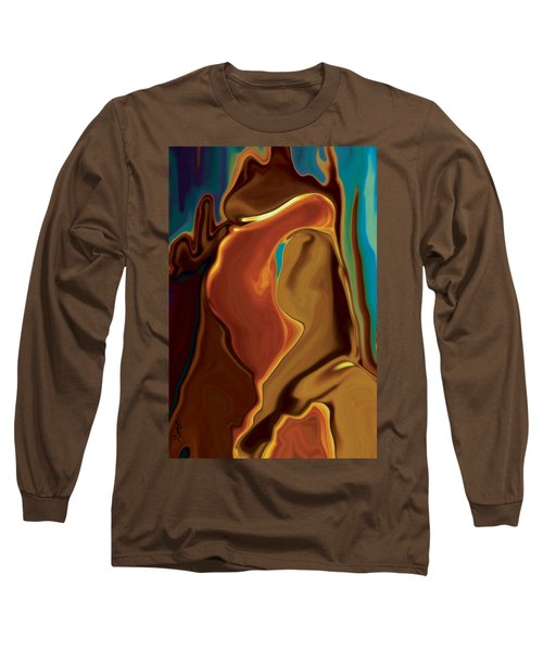 Long Sleeve T-Shirt featuring the digital art The Kiss by Rabi Khan