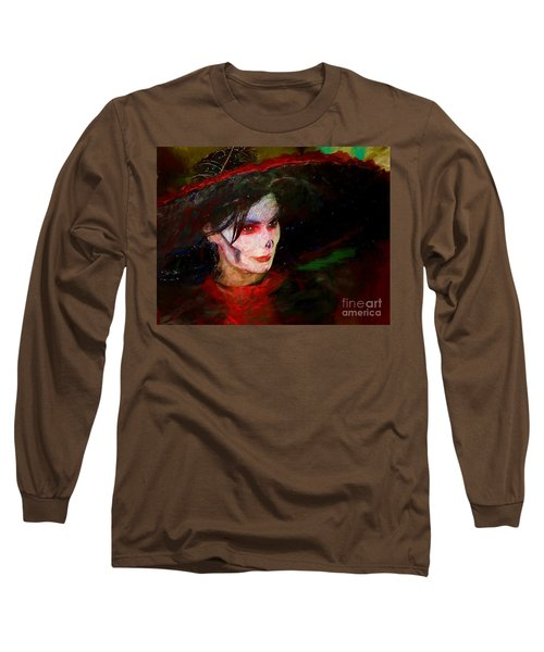 The Lady In Red Long Sleeve T-Shirt