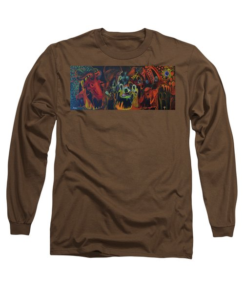 Long Sleeve T-Shirt featuring the painting The Last Supper by Christophe Ennis