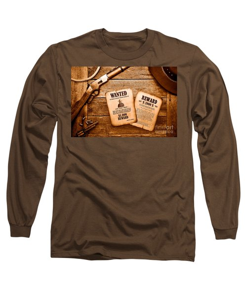 The Legend Of Frenchie - Sepia Long Sleeve T-Shirt