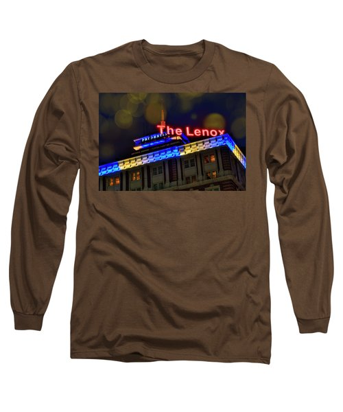 Long Sleeve T-Shirt featuring the photograph The Lenox And The Pru - Boston Marathon Colors by Joann Vitali