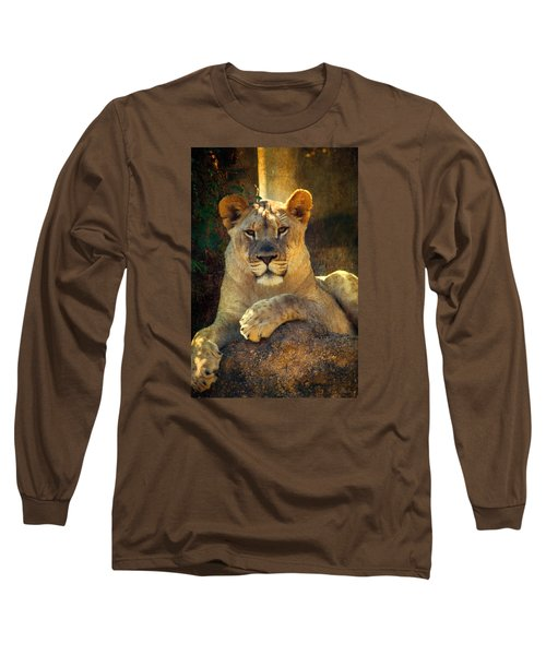 Long Sleeve T-Shirt featuring the photograph The Look by John Rivera
