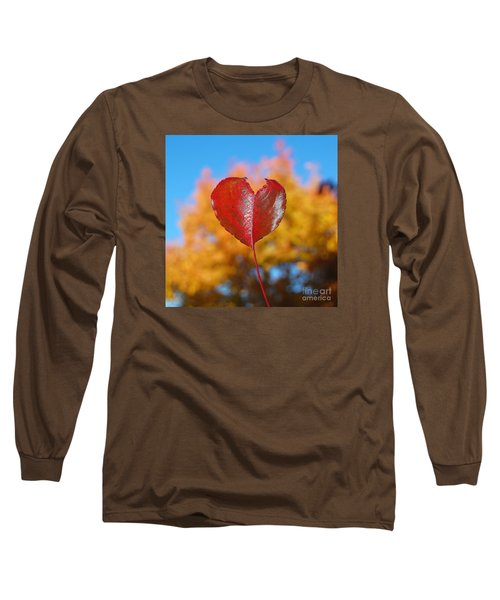 The Love Of Fall Long Sleeve T-Shirt by Debra Thompson