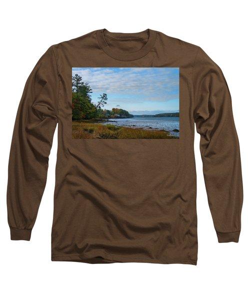 The Maine Coast Near Edgecomb  Long Sleeve T-Shirt
