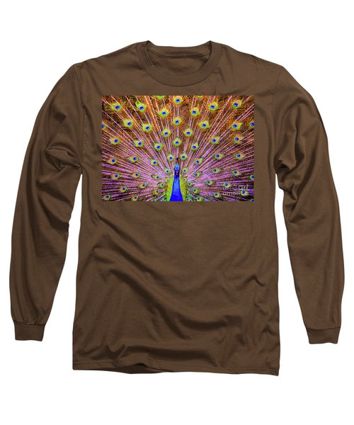 The Majestic Peacock Long Sleeve T-Shirt