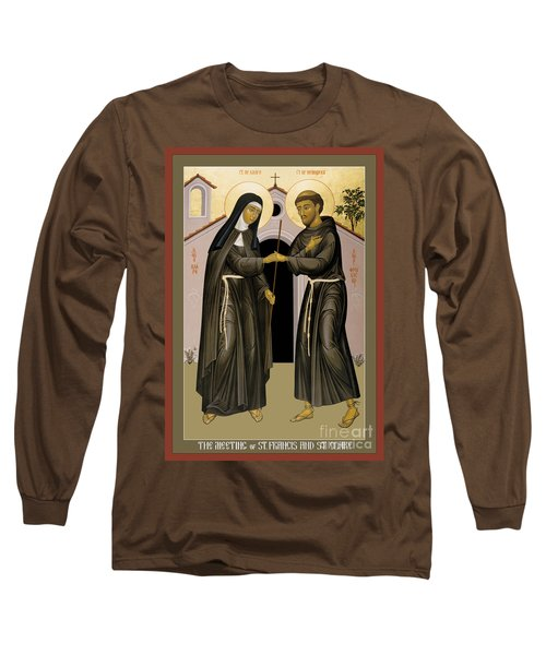 The Meeting Of Sts. Francis And Clare - Rlfac Long Sleeve T-Shirt