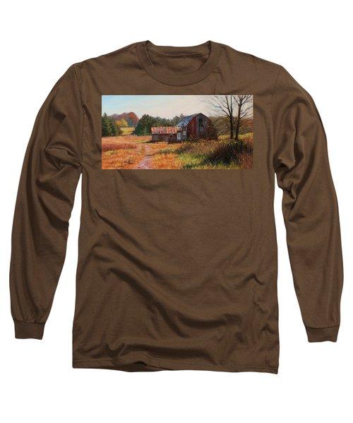 The Neighbor's Barn Long Sleeve T-Shirt by Bonnie Mason